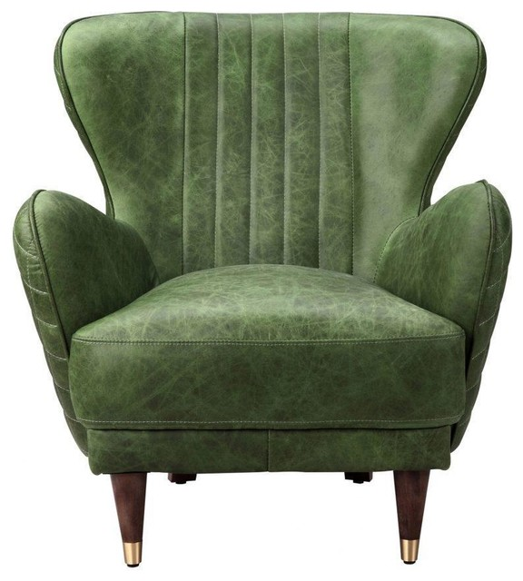 Peachy Kay Leather Arm Chair Emerald Ocoug Best Dining Table And Chair Ideas Images Ocougorg