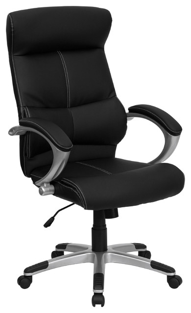 contemporary leather high office chair black. ares leather highback swivel chair black contemporaryofficechairs contemporary high office o