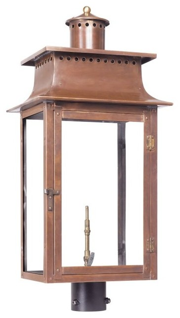 Elk Lighting 7906 Wp Maryville Outdoor Post Mounted Natural Gas Lantern Transitional Post
