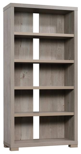 Sauder Manhattan Gate Modern 5-Shelf Wood Bookcase in Mystic Oak