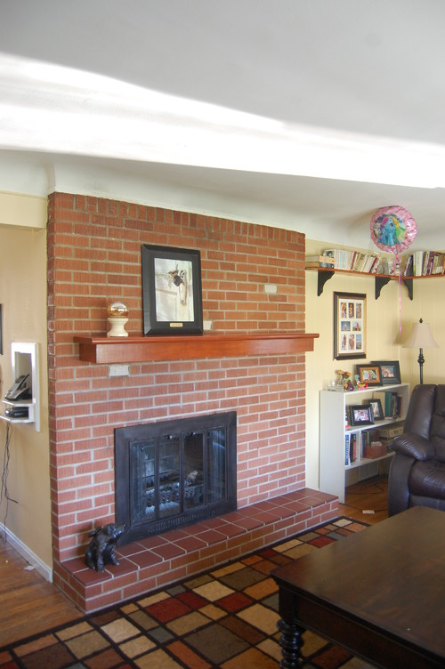 Off-center fireplace box... please help!