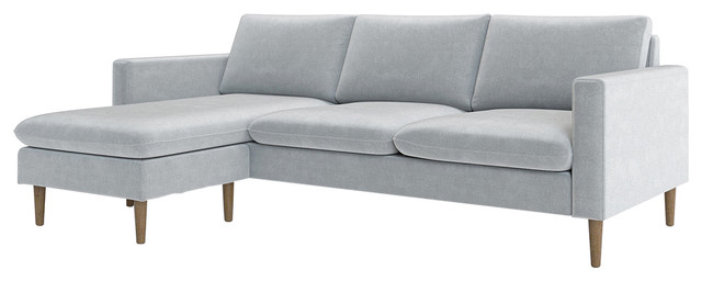 Magnificent Cameron Reversible Sectional Light Gray Unemploymentrelief Wooden Chair Designs For Living Room Unemploymentrelieforg