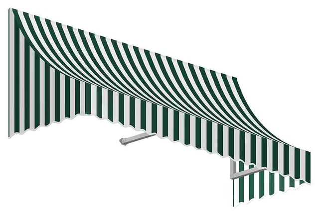5' Nantucket Window/Entry Awning, Forest Green/White