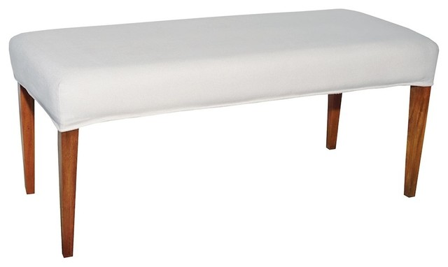 Miraculous Couture Covers Double Bench Cover Pure White Evergreenethics Interior Chair Design Evergreenethicsorg
