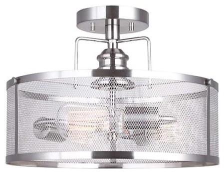 Canarm Isf626a03 Beckett 3 Light 15 8 Semi Flush Drum Ceiling Fixture