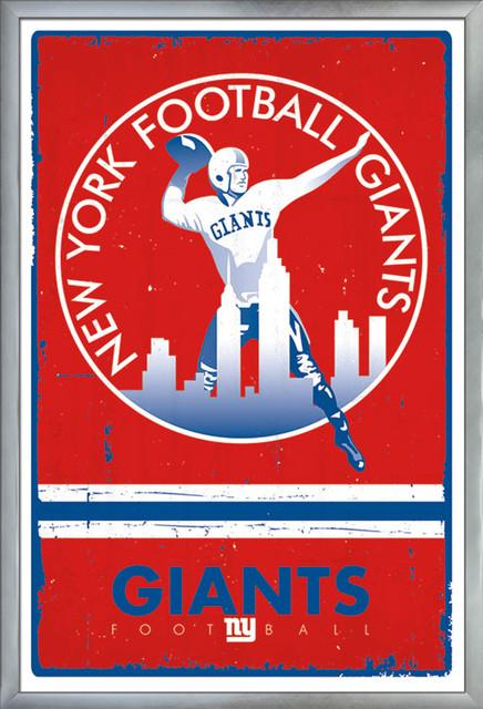 Trends International Framed Poster New York Giants-End Zone 17 24.25 x 35.75