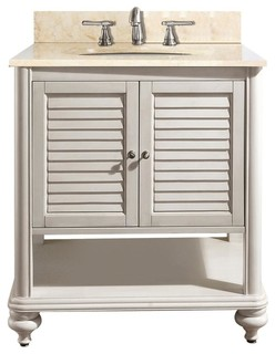 Tropica Vanity, Antique White, 25""