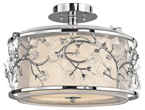 Kichler Jardine 3-Light Semi-Flush Indoor Ceiling Fixture.