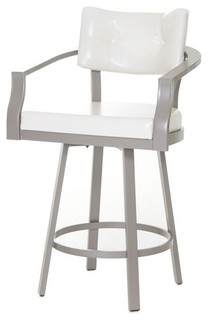 """Curved Back Swivel Stool, Counter Height, 26"""""""
