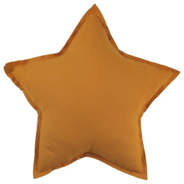 Dark Yellow Creative Handmade Star Shape Sofa Cushions Pillows