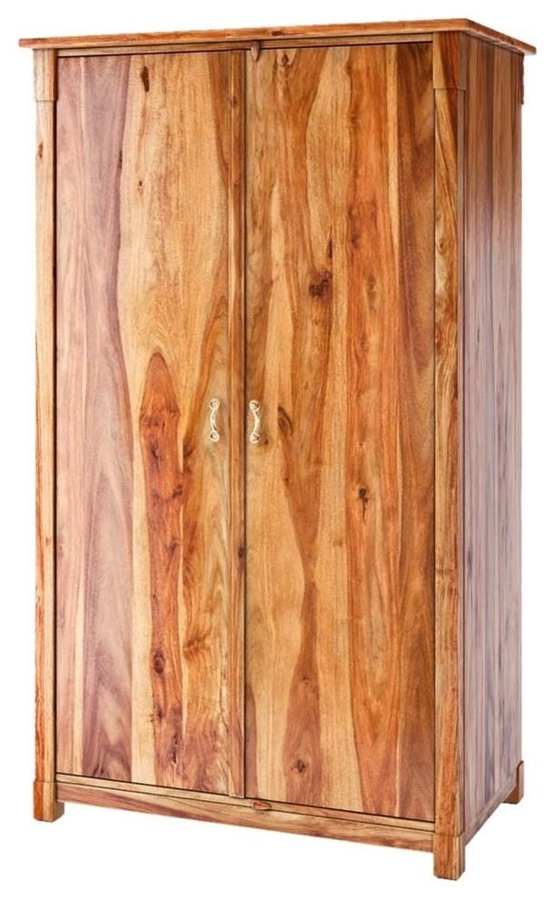 Solid Wood Wardrobe Armoire
