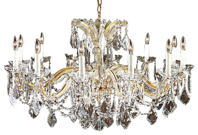 Maria Theresa Crystal Chandelier For Low Ceilings Traditional Chandeliers By Inviting Home Inc