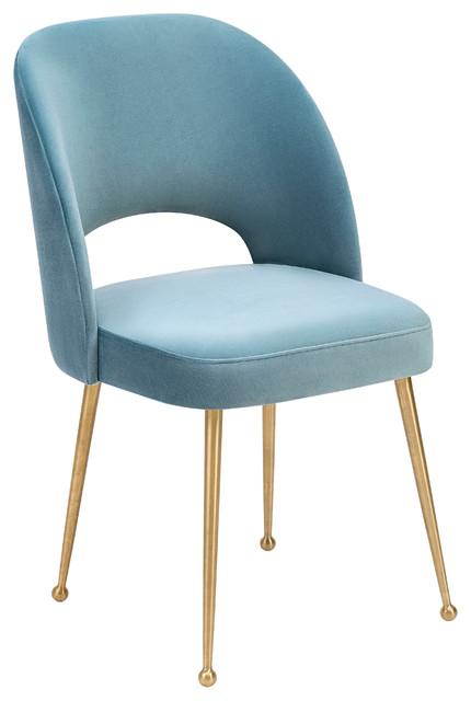 Bracken Velvet Chair, Ocean.