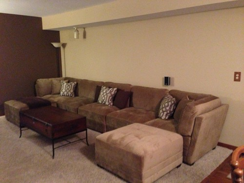 The left corner with the nesting tables may be getting replaced with a chair but my husband wants a recliner and Iu0027m leaning towards an armless chair. & Help decorating a long wall over couch and accent wall islam-shia.org