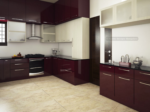 Open modular kitchen design for Modular kitchen designs for 10 x 8