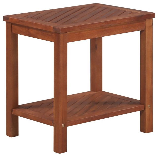 Vidaxl Solid Wood Side Table 17 7 Outdoor Indoor Plant Stand Coffee Sofa End