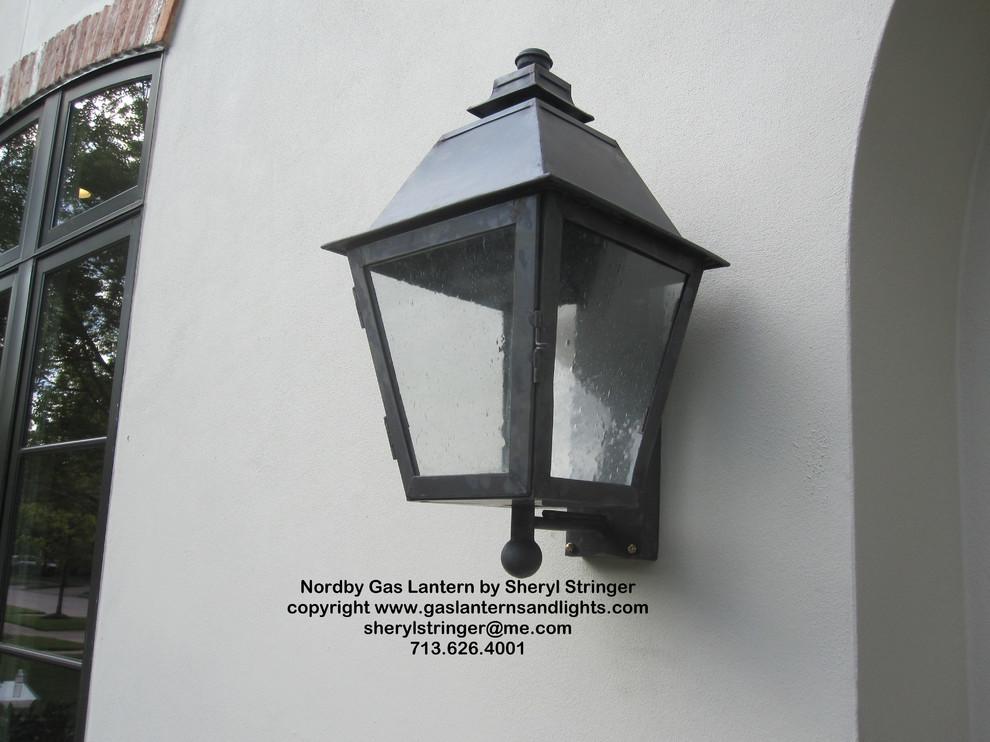 Sheryl's Nordby Style Gas Lantern Dark Patina Finish