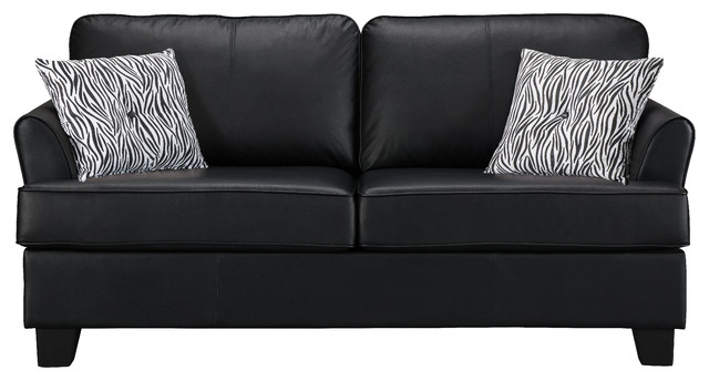 Enzo Faux Leather Sofa Hide A Bed Sleeper Transitional Sleeper