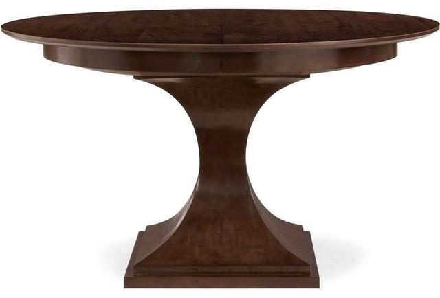 Bernhardt Furniture Haven Round Pedestal Dining Table Brunette