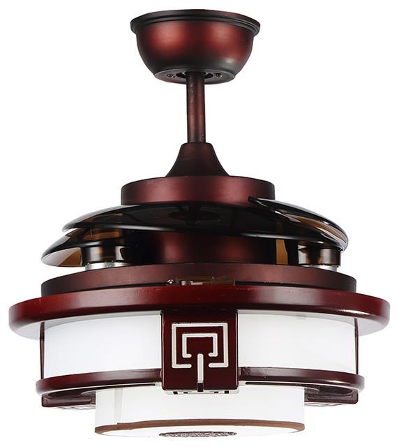 Shop Houzz Lamps Next Quaint Rosewood Led Ceiling Fan
