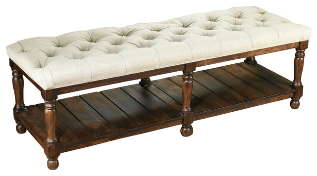Upholstered Bench. -1