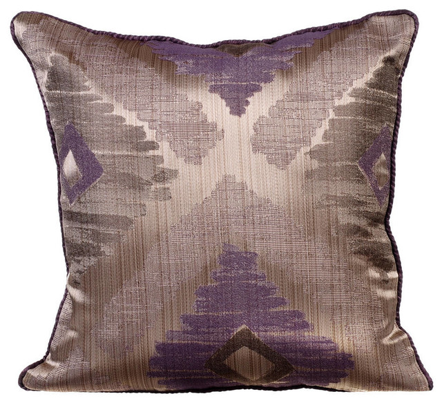 Purple Throw Pillow Covers 16 X16 Silk Abstract Therapy
