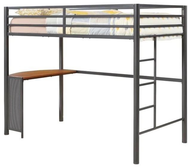 Coaster Twin Metal Loft Bed In Gunmetal.