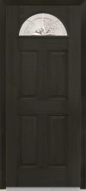 "Heirloom Master 1/4 Lite 4-Panel Fiberglass Door 37.5""x81.75"" Lh In-Swing."