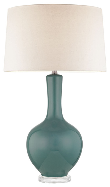1 Light Standard Bulb Table Lamp Teal Contemporary Table Lamps By 1800