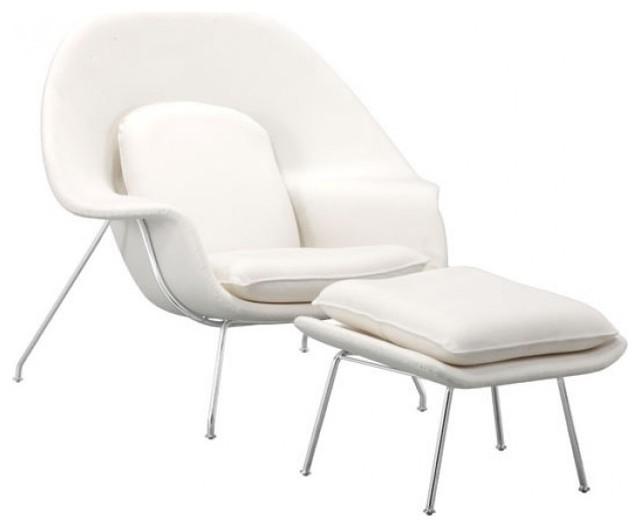 Nursery Occasional Chair Ottoman White