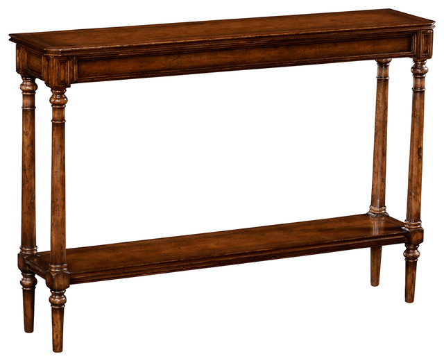 Jonathan Charles Country Living Style Narrow Walnut Console 494601.