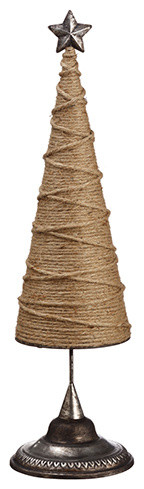 Silk Plants Direct Rope Cone Topiary Tree, Set Of 2.