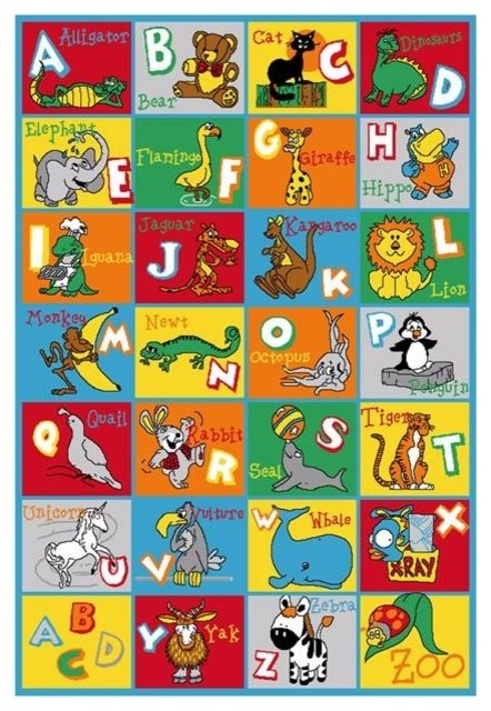 Quot Abcd Zoo Quot Children Area Rug 39 Quot X58 Quot Contemporary Kids