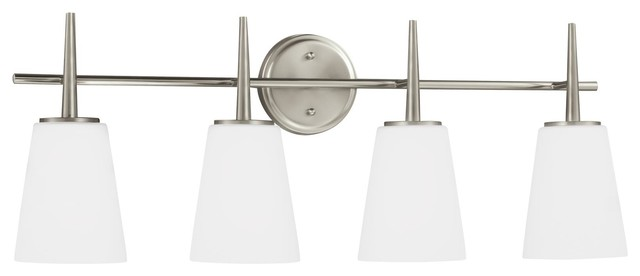 Sea Gull Lighting 4-Light Driscoll Sconce, Brushed Nickel