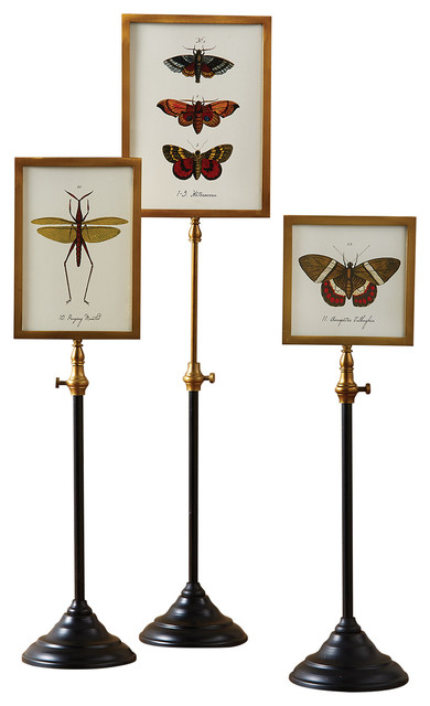 Set Of 3 Double Sided Photo Frames On Telescoping Pole Traditional