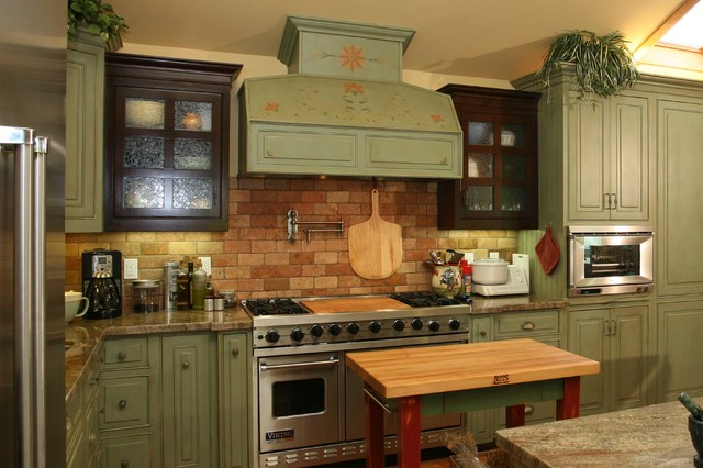 Country Green Kitchen Farmhouse Orange County By Pacific Coast