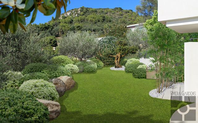 contemporary mediterranean garden - Mediterranean Garden
