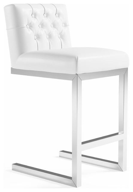 Astounding Nataline Leather Counter Stool White Unemploymentrelief Wooden Chair Designs For Living Room Unemploymentrelieforg