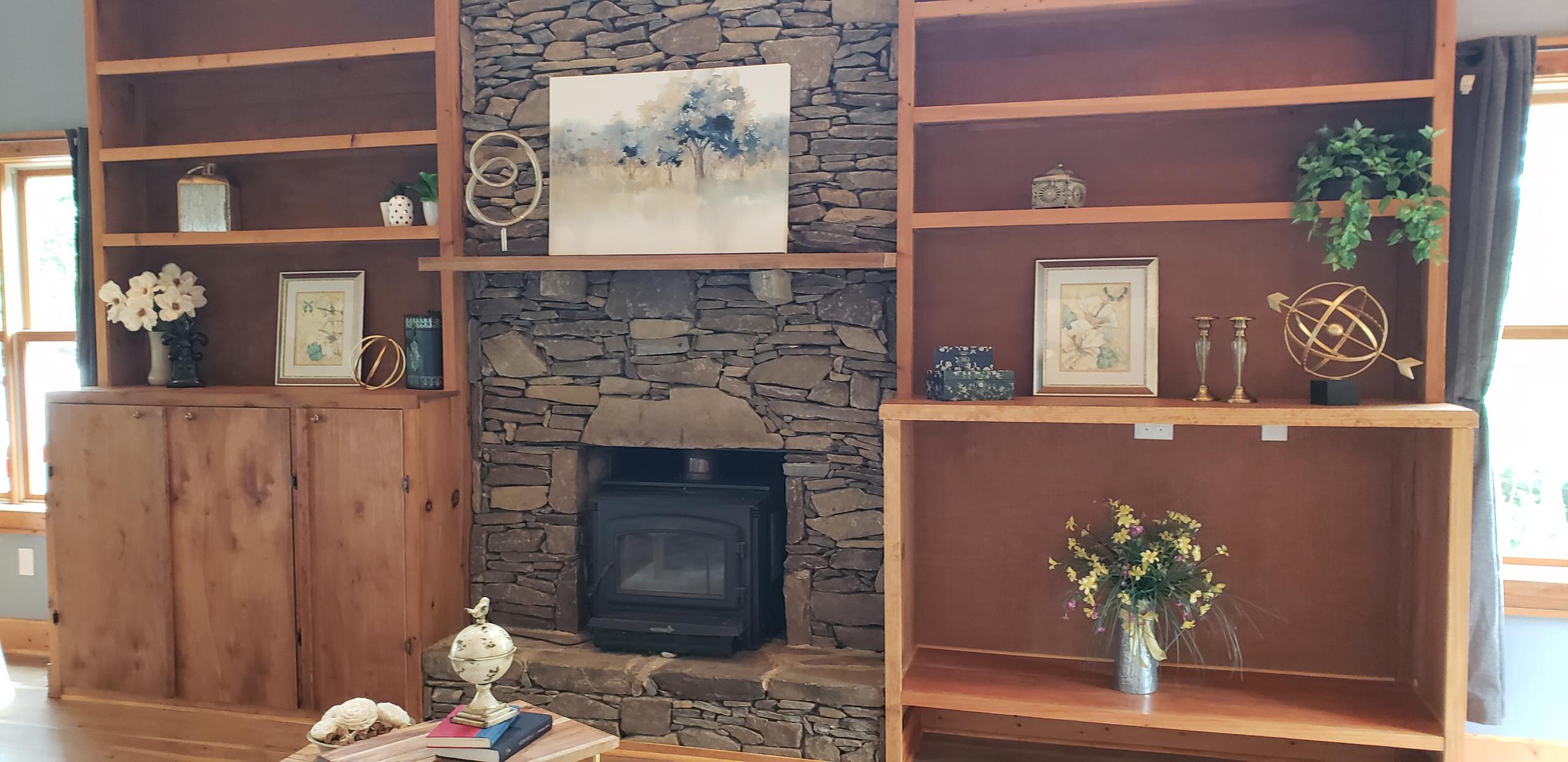 Mountain Top Cabin Staging