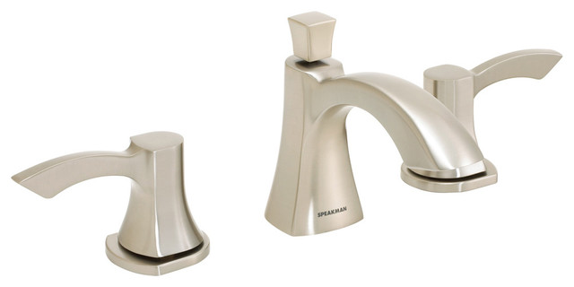 """Tiber Collection 8"""" Widespread Faucet, Brushed Nickel"""