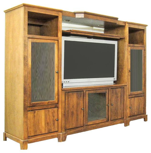 Shaker 3 Piece Wall And Tv Stand And Adjustable Shelf Traditional