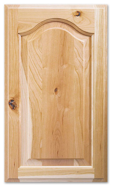Rustic Cherry Unfinished Cabinet Door Arch Raised Panel - Traditional - Kitchen Cabinetry - by ...