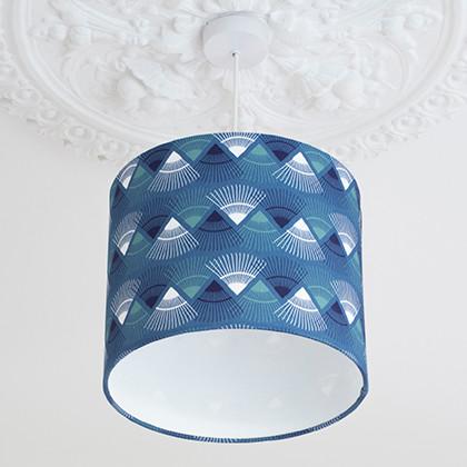 Blue Rakish Print Lampshade
