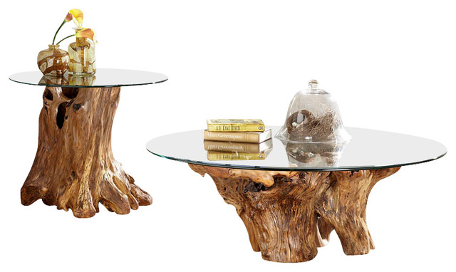 Hammary Hidden Treasures 2 Piece Root Ball Coffee Table Set Traditional Coffee Table