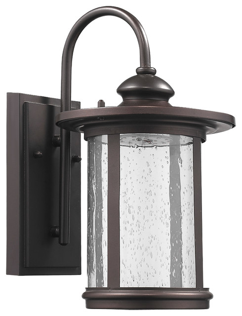 Mounting Height For Exterior Wall Sconces : Cole Transitional Led Rubbed Bronze Outdoor Wall Sconce - Transitional - Outdoor Wall Lights And ...