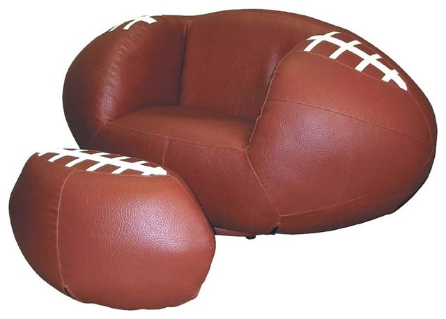 Football Kid S Chair With Ottoman Contemporary Kids Chairs