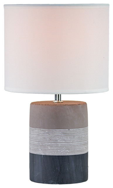 Tri Tone Concrete Table Lamp With