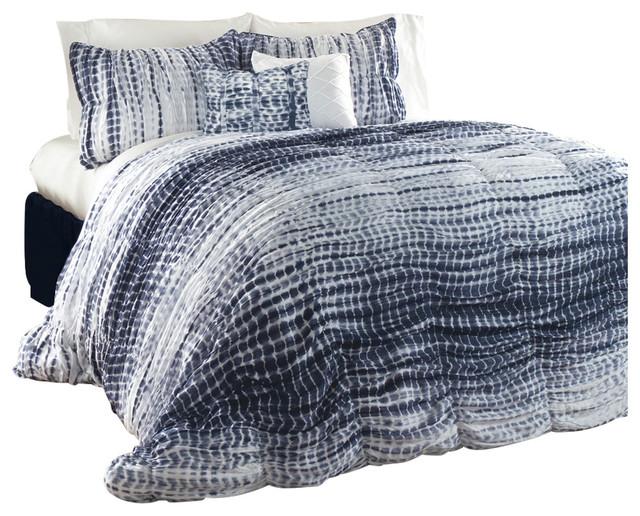 navy duvet set uk cover twin pebble creek piece tie dye covers stripe