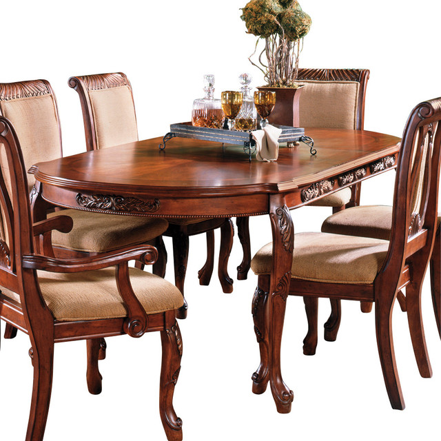 Steve Silver Harmony Oval Dining Table In Cherry Traditional - Traditional oval dining table