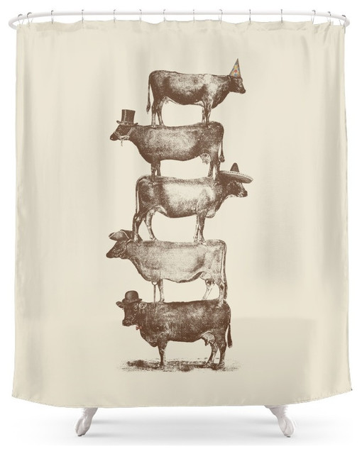 Cow Shower Curtain Set Soozone